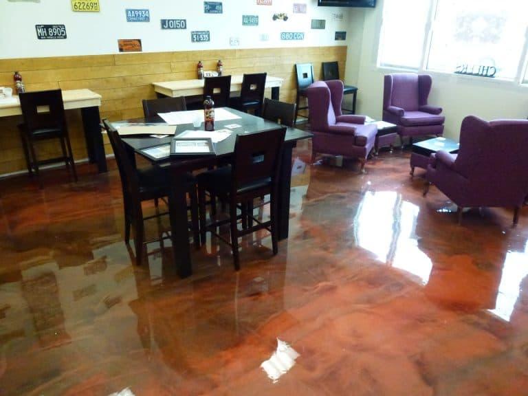 epoxy basement floor